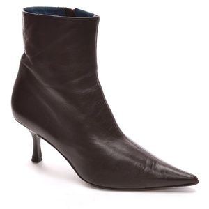 Via Spiga Brown Pointed Toe Zip Ankle Boots 8.5 M